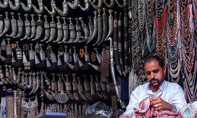 Có thể tìm thấy cửa hàng bán dao găm truyền thống ở bất kỳ ngôi chợ nào tại Yemen.