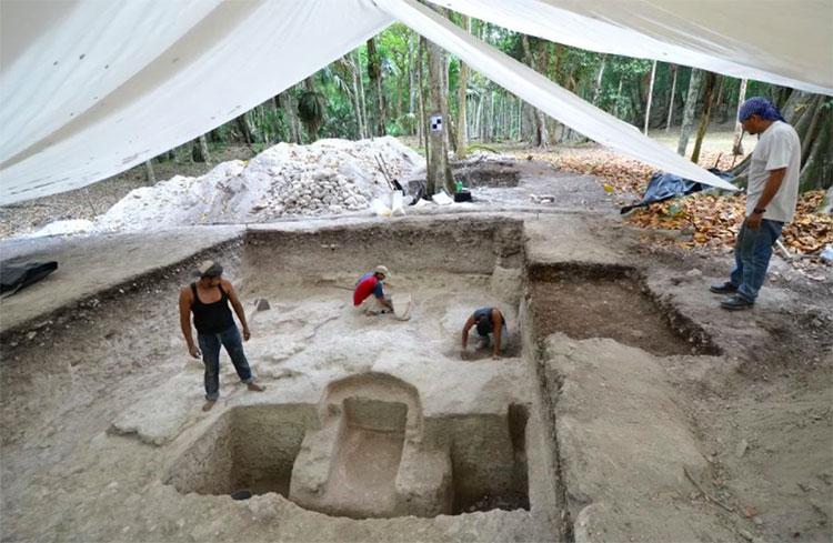 Khu vực phát hiện ra phòng tắm xông hơi cổ đại của người Maya.