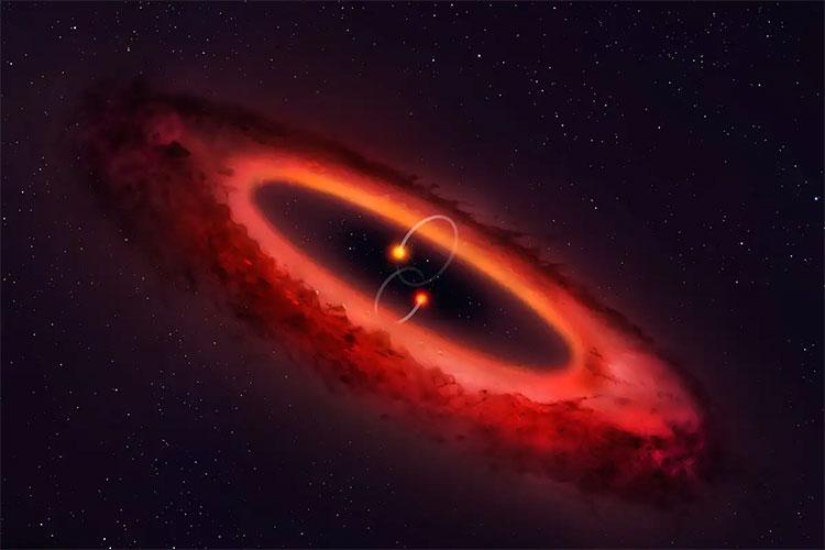 Một đĩa hình thành hành tinh quay quanh 2 cặp sao vừa được kính viễn vọng ALMA ghi nhận