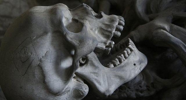 Các nhà khoa học phát hiện hạt màu xanh được tìm thấy trong răng của một bộ xương cổ đại.