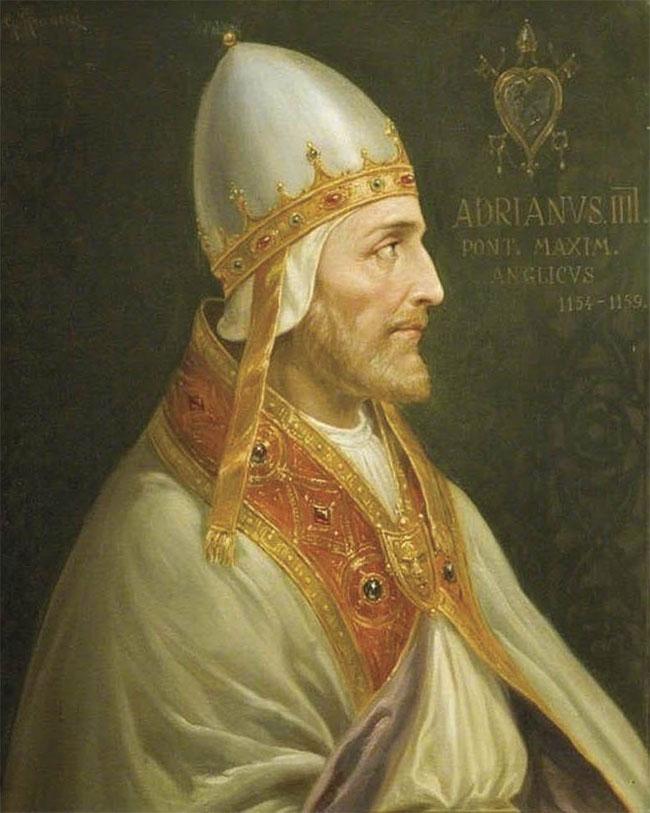 Giáo hoàng Adrian IV chết vì một con ruồi.
