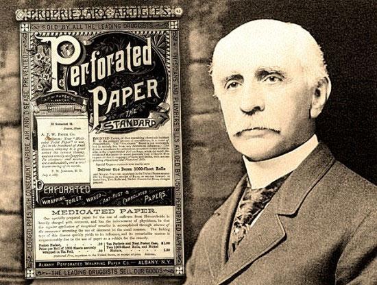 Nhà sáng chế Joseph Gayetty, người được cho là đã phát minh ra mẫu giấy vệ sinh thương mại đầu tiên