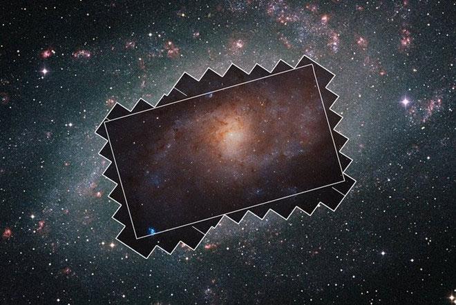 Ảnh chụp thiên hà Tam Giác.
