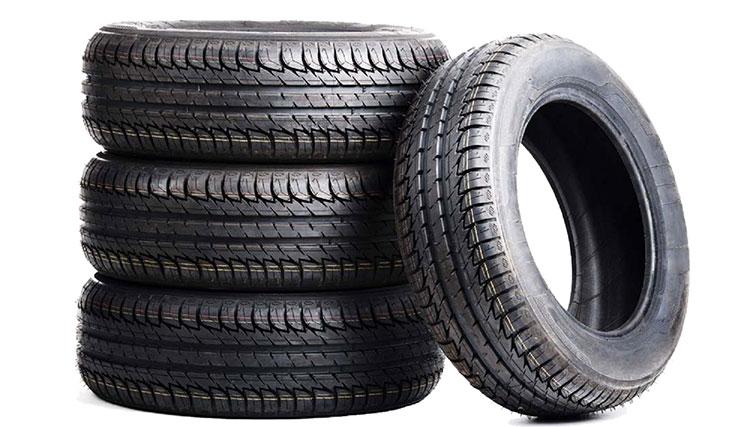 Sau khi sử dụng một thời gian dài lốp xe thường ngả sang màu xám.