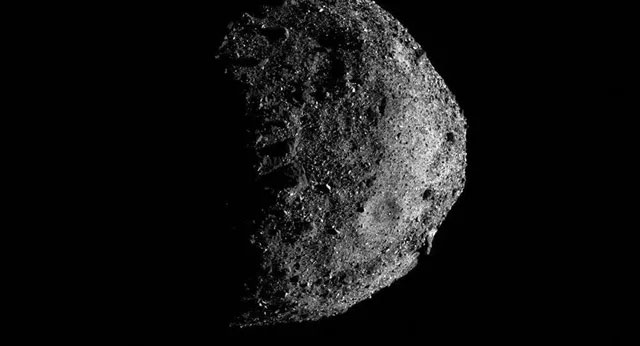 Một phần trên bề mặt tiểu hành tinh Bennu.