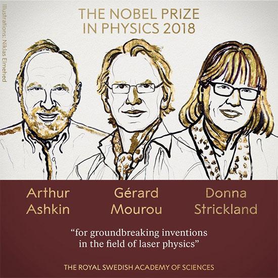 Cụ Arthur nhận giải Nobel Vật lý năm 2018.