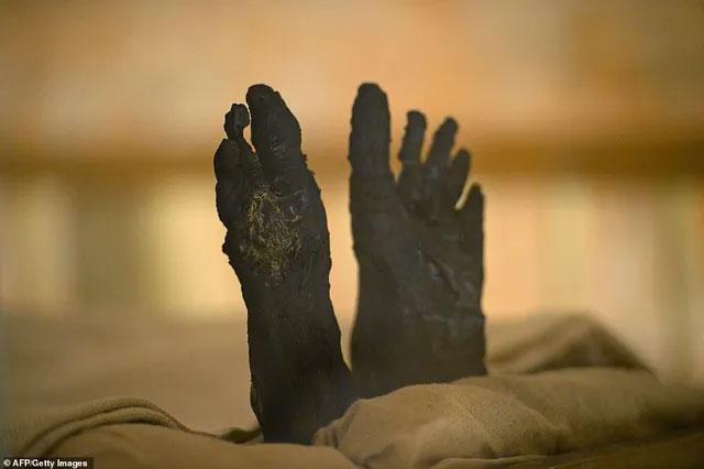 Đôi chân của vị Pharaoh nổi tiếng.