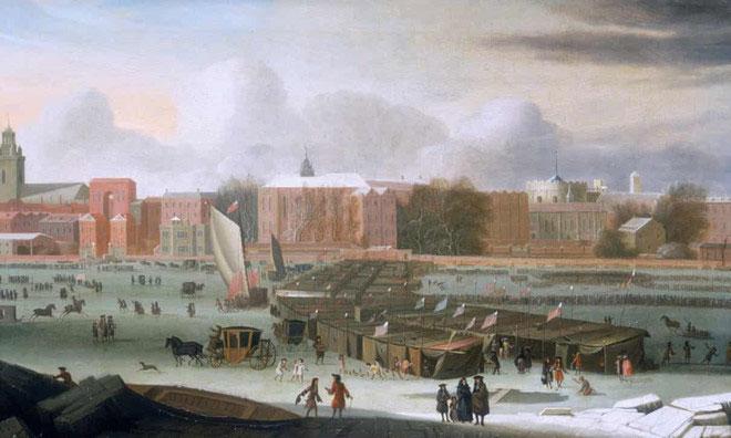 Bức tranh này vẽ lại cảnh một hội chợ được dựng lên trên sông Thames ở thủ đô London, Anh
