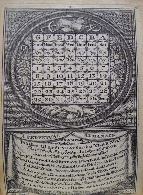 Bảng niên đại William Parsons xuất hiện vào thế kỷ 17