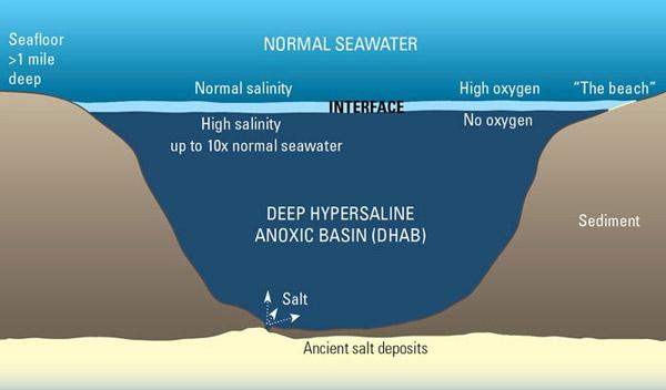 Các loại khí độc hại khiến nước trong hồ tuyệt vọng không bị hòa vào nước biển