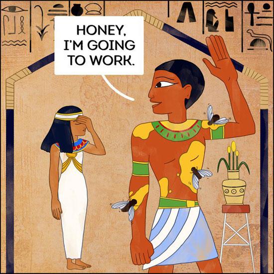 Nô lệ thời Ai Cập cổ: hiến thân mình để dụ ruồi giúp vua