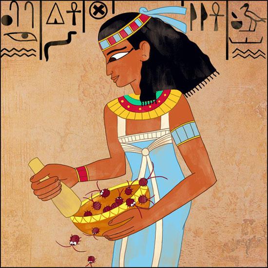 Ai Cập cổ đã có son môi, nhưng được làm từ... bọ