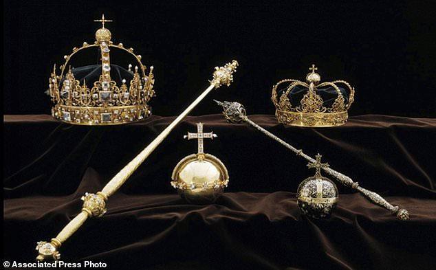 Các báu vật của hoàng gia Thụy Điển bị đánh cắp vào tháng 8 năm ngoái.