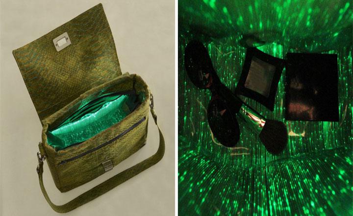 Túi xách phát sáng FABRIKK Vela giúp người dùng tìm đồ dễ dàng hơn.