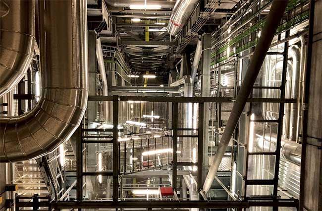 Bên trong nhà máy nhiệt điện Copenhill.