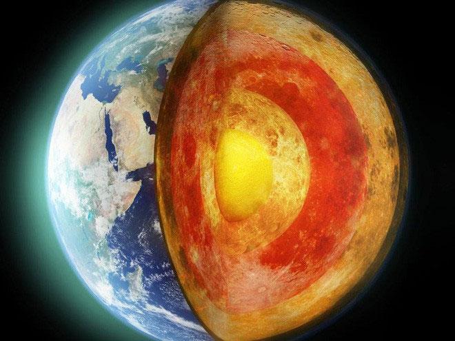 Mô phỏng bên trong lõi Trái đất.
