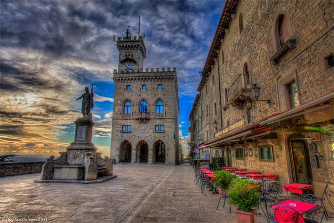 Phố cổ ở San Marino đã được UNESCO công nhận là di sản văn hóa thế giới.