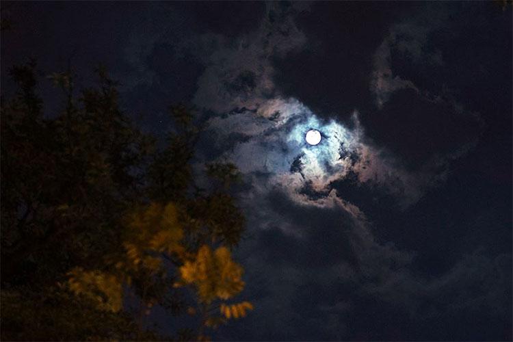 Bầu trời khu vực Hà Nội đêm qua gần như không thể quan sát siêu trang do lượng mây dày đặc