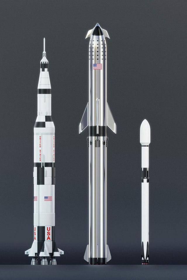 Hệ thống tên lửa này cao 67m.