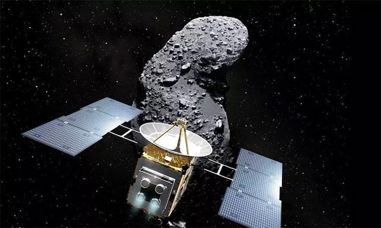 Hayabusa 2 bay tới tiểu hành tinh cổ Ryugu vào tháng 6/2018.