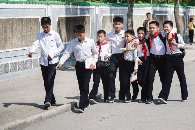 Học sinh phổ thông ở Triều Tiên