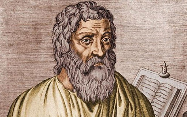 Thầy thuốc Hippocrates được coi là tác giả của Lời thề Hippocrates nổi tiếng trong ngành Y.