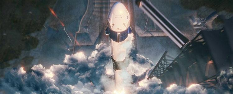 Tàusẽ được phóng lên quỹ đạo nhờ tên lửa Falcon 9 của SpaceX.