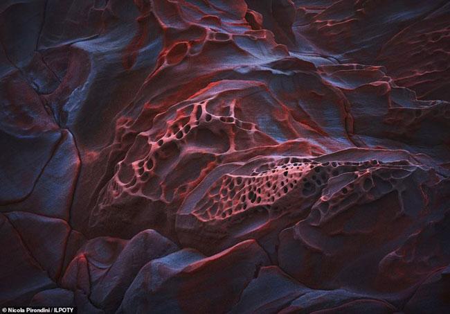 Sự hình thành bất thường của những khối đá ở khu bảo tồn thiên nhiên Calafuria