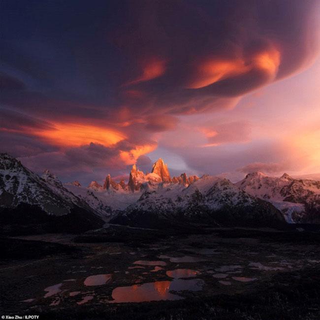 Dãy núi Monte Fitz Roy ở Patagonia