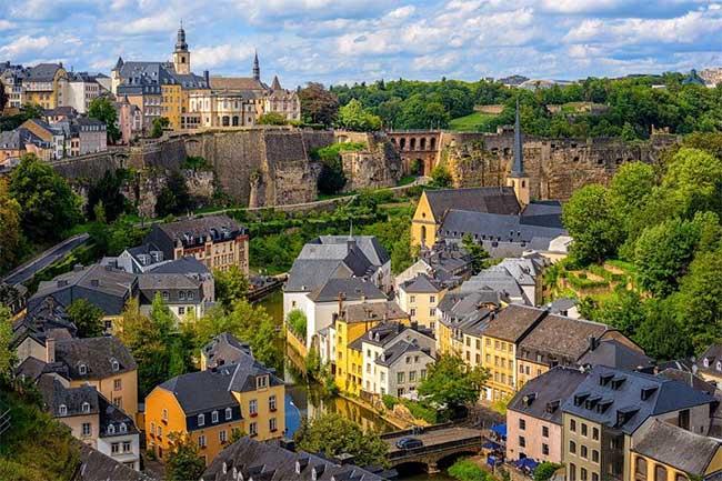 Dân số của Luxembourg chủ yếu tập trung ở Luxembourg City.