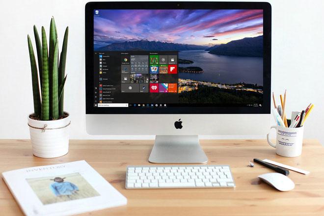 """Đỉnh cao của sự """"quái thai nhưng chẳng phải chuyện hiếm: chạy Windows 10 trên máy Mac."""