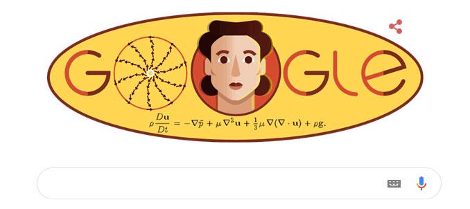 Hình ảnh nhà Toán học Olga Ladyzhenskaya trên trang chủ Google hôm nay 7/3.