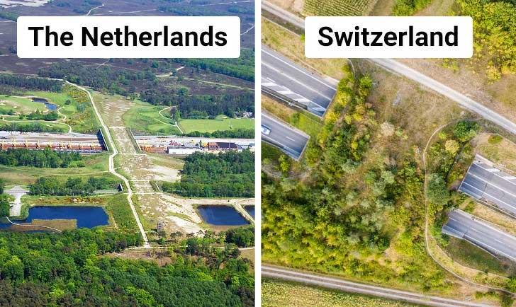 Hà Lan hiện tại có hơn 600 cây cầu, trong đó có cây cầu vượt hoang dã dài đến 800m
