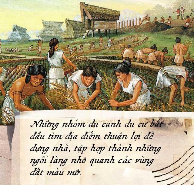 Người của Thời kỳ Đồ đá mang theo hạt giống mỗi chuyến du hành, rải hạt trên những khoảnh đất màu mỡ để năm sau có thể thu hoạch.