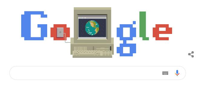 Google Doodle đã kỷ niệm 30 năm ngày ra mắt World Wide Web.