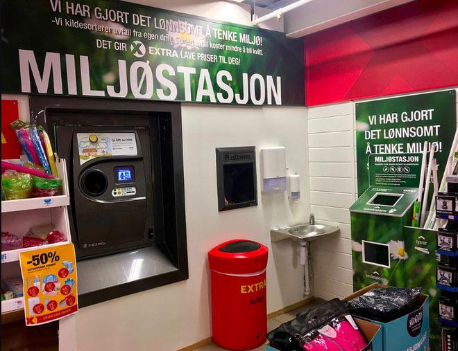 Những chiếc máy nhận lại chai nhựa tại Na Uy.