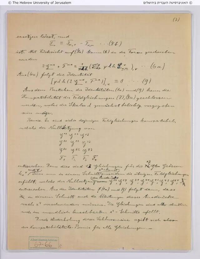 Trang viết tay của Einstein vừa được tìm thấy.