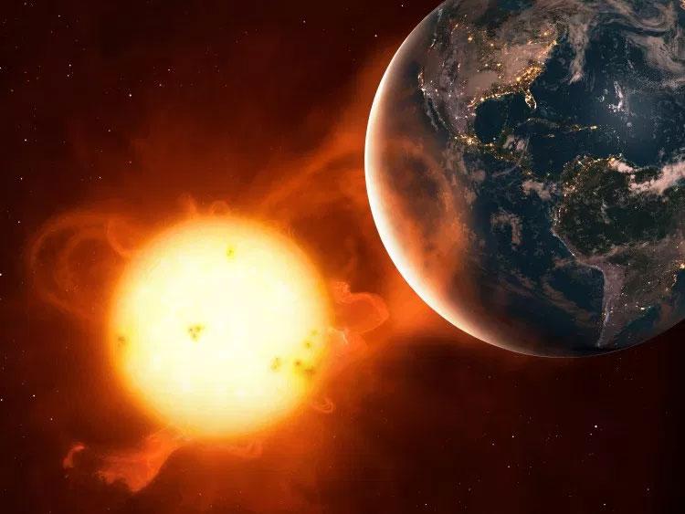 Siêu bão Mặt Trời có tác động mạnh mẽ đến xã hội với những thiết bị công nghệ cao của loài người hiện đại.