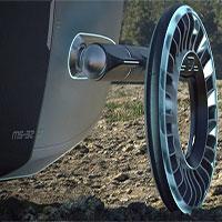 Lốp xe kiêm cánh quạt: Là bánh xe đi trên mặt đất nhưng có thể biến thành cánh quạt khi bay