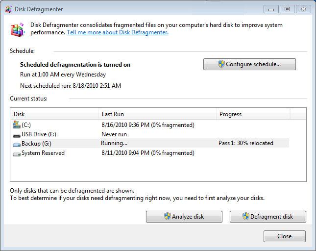 Microsoft tích hợp sẵn chương trình chống phân mảnh ổ cứng bên trong Windows.