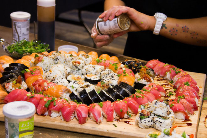 Các món gỏi hải sản, hải sản sống