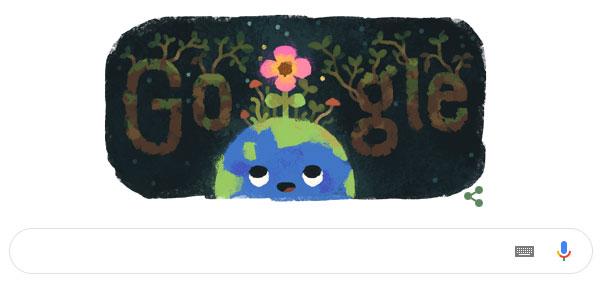 Biểu tượng Google Doodle hôm nay 20/3.