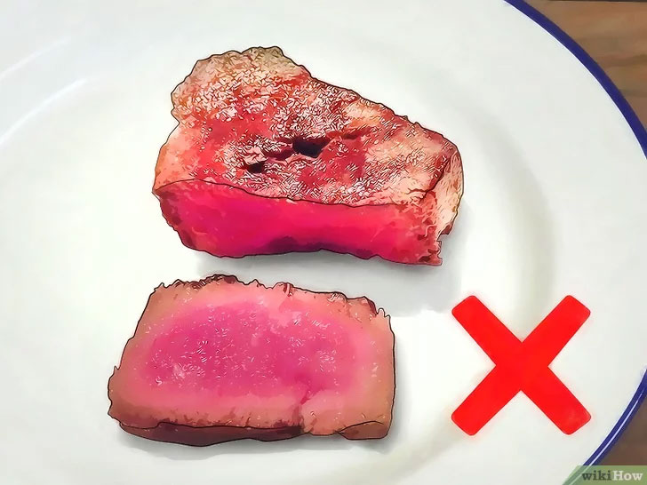 Tránh ăn thịt sống