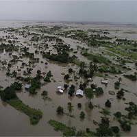 """Miền Nam châu Phi thành """"đại dương nội địa"""" sau siêu bão Idai"""