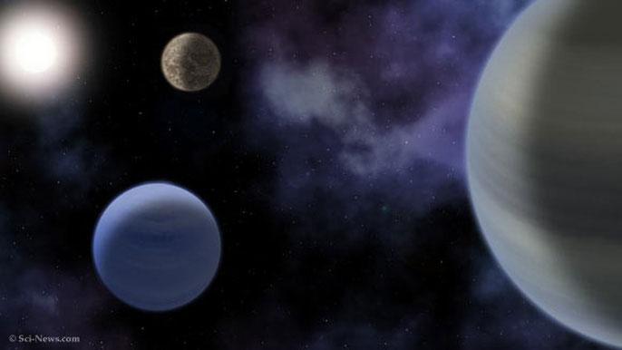 Đồ họa của Sci-News về hệ hành tinh mới được phát hiện.