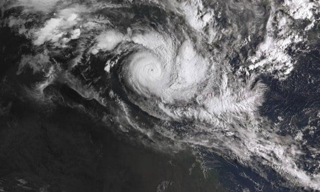 Hình ảnh chụp từ vệ tinh của lốc xoáy Trevor.