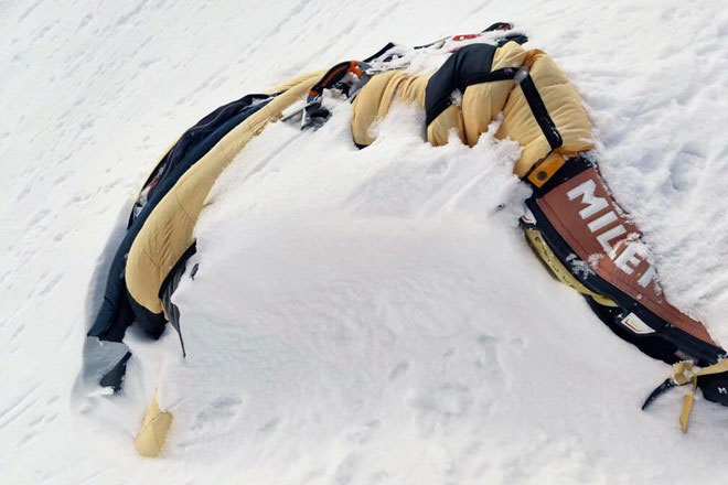 Thi thể của một nhà leo núi người Ấn Độ thiệt mạng vào năm 2016 khi chinh phục đỉnh Everest.