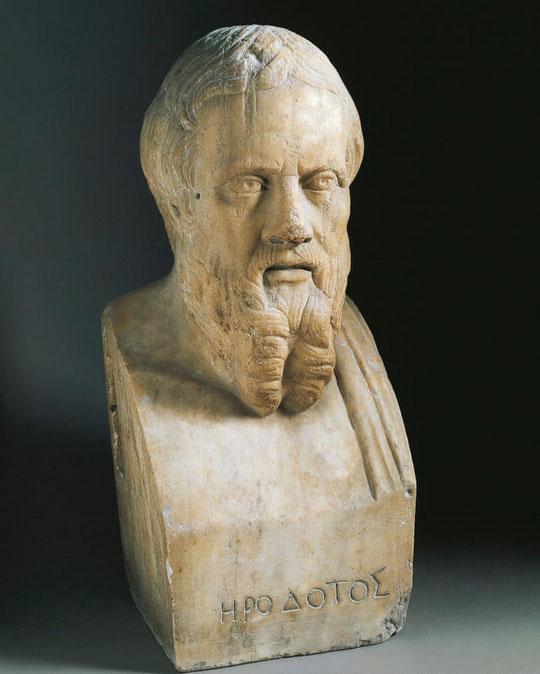 Herodotus - nhà sử học Hy Lạp, người duy nhất đã có ghi chép về những con tàu bí ẩn từng ngược xuôi sông Nile trù phú