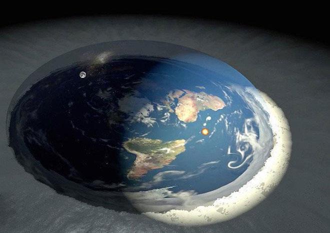 Những người tin Trái Đất phẳng cho rằng Nam cực chính là phần băng nằm ở rìa hành tinh.