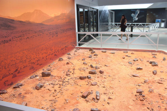 Mô phỏng bề mặt sao Hỏa tại KSC